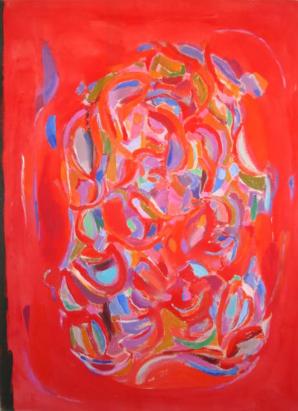 """56"""" x 42"""" Acrylic on Canvas - Unframed"""