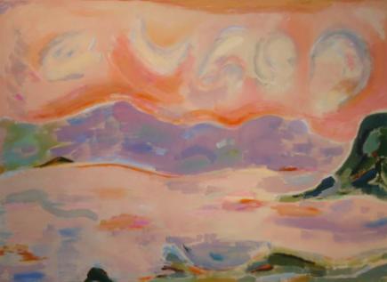 """44"""" x 60"""" Acrylic on Canvas - Unframed"""