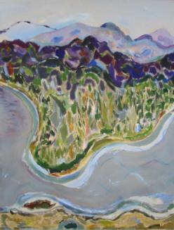 """54"""" x 42"""" Acrylic on Canvas - Framed"""