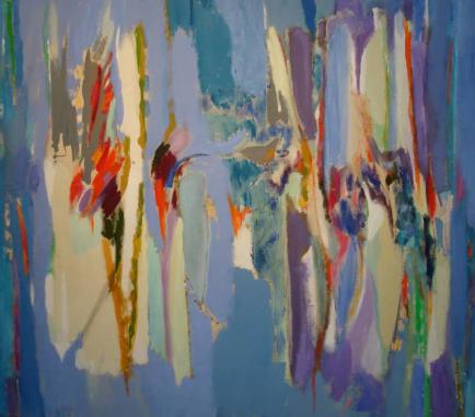 """42"""" x 48"""" Acrylic on Canvas - Unframed"""