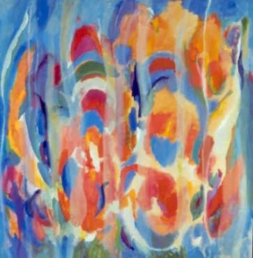 """46"""" x 48"""" Acrylic on Canvas - Framed"""