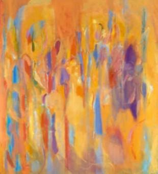"""48"""" x 48"""" Acrylic on Canvas - Framed*"""