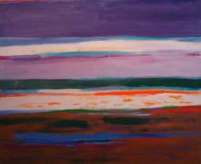 """32"""" x 39"""" Acrylic on Canvas - Unframed"""
